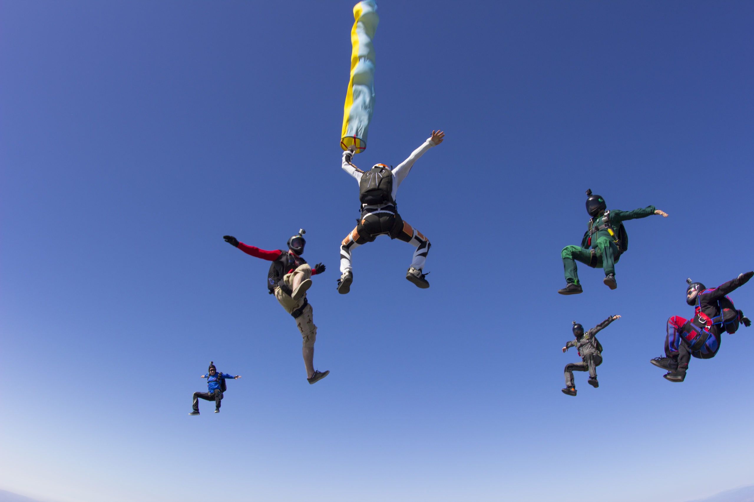 group parachute trump skydive san diego