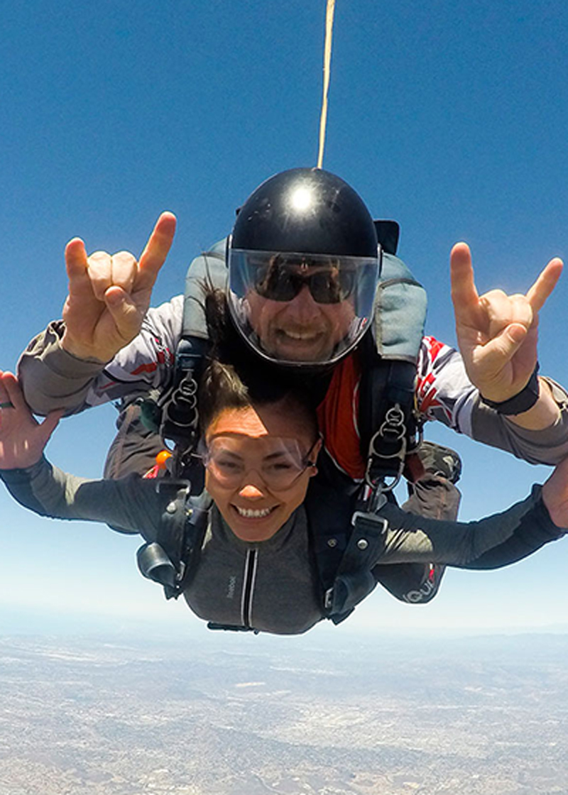 Regular Tandem skydiving san diego