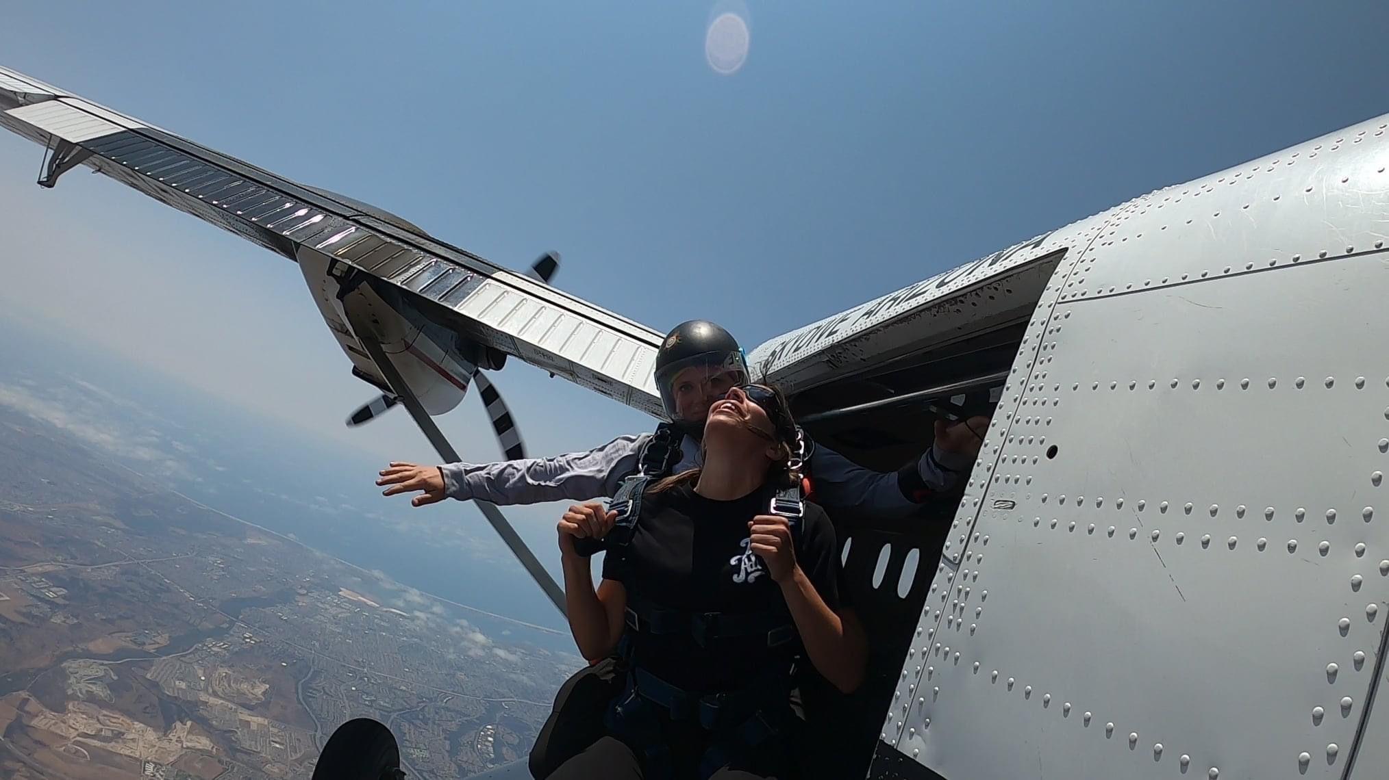 Tandem training at skydive san diego